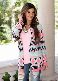Cheap sweater jacquard, Buy Quality cardigan knit sweater directly from China cardigan cotton Suppliers: 2016 New Fashion Autumn Winter Women Sweater Full Sleeve Colorful Geometric Long Knitted Cardigans Female Casual Sweaters Long Knit Cardigan, Shawl Cardigan, Dress With Cardigan, Fashion Prints, New Fashion, Autumn Fashion, Modern Vintage Boutique, Stylish Clothes For Women, Casual Sweaters