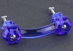 Antique Cobalt Blue Glass Pull - 3""
