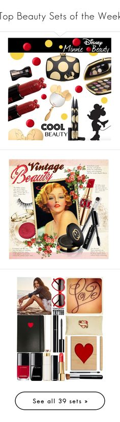 """""""Top Beauty Sets of the Week"""" by polyvore ❤ liked on Polyvore featuring beauty, Sephora Collection, Essie, Anna Sui, Yves Saint Laurent, N°21, Gucci, Bobbi Brown Cosmetics, vintage and makeup"""