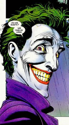 The Joker by Brian Bolland from the Spanish language version of The Killing Joke.