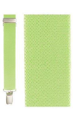 Fluorescent Lime Newport Suspenders