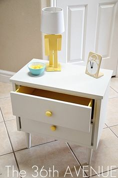 How to paint laminated plywood by the36thavenue.com   nightstand makeover