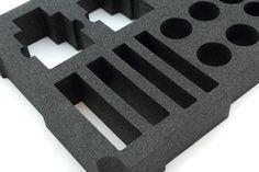 Laserskuret väskinrede i Plastazote skum | Laser cut case insert in Plastazote Laser Cutting
