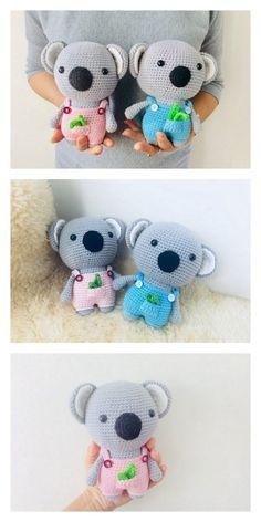 Educational and interesting ideas about amigurumi, crochet tutorials are here. Crochet Elephant Pattern Free, Crochet Teddy Bear Pattern, Crochet Doll Pattern, Crochet Patterns Amigurumi, Amigurumi Doll, Doll Patterns Free, Free Pattern, Diy Crochet Toys, Koala Craft