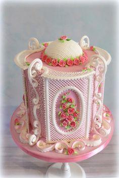 Rose Garden royal icing by  Justyna A-Majewska   JAM