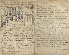 Vincent Van Gogh Sketchbook Letter
