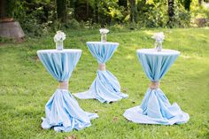 Pedestal table from a Bottles and Burlap Baby Shower on Kara's Party Ideas | KarasPartyIdeas.com (32)