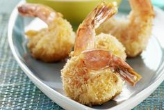 Baked Coconut Shrimp with Tangelo Salsa Recipe. Also really good when you sub shrimp for a mild fish Seafood Dishes, Seafood Recipes, Appetizer Recipes, Cooking Recipes, Thai Recipes, Fish Recipes, Seafood Pizza, Prawn Recipes, Fish Dishes
