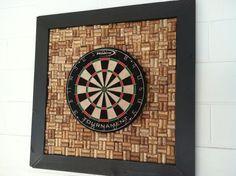 Wine cork to back dart board