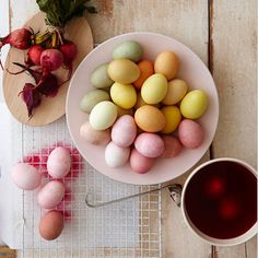 LOVE these colors! So Gorgeous! All Natural Easter Egg Dye Recipes #Natural #Easter_Egg #Dye #Dye_Recipes