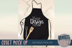 Black apron Craft Mock up Free Design, Your Design, Black Apron, Family Crafts, Svg Files For Cricut, Resolutions, School Design, Design Bundles