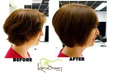 KeraGreen Keratin Smoothing Treatment - Before and After via Sugar Fly! See-ya, frizz - hello, shine and body!