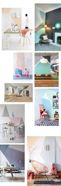 Hoy en el blog, #ideas #decoración :: #paredes #geométricas para valientes…