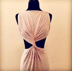 DIY Twisted t-shirt dress.