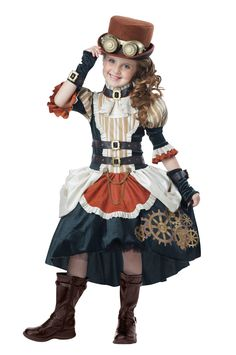 Steampunk Girl #steampunk #children #costumes