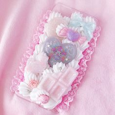 Pastel Sweets iphone 6 plus case kawaii decoden sweets Kawaii Phone Case, Decoden Phone Case, Silicone Phone Case, Diy Phone Case, Cool Phone Cases, Iphone 6 Plus Case, Phone Covers, Iphone Cases, Ice Crafts