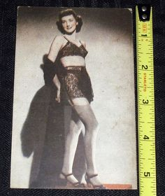 1930s 40s Vintage Original Pin Up Girl Card Stockings Garter Bra Panties Slip | eBay