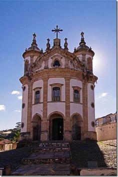 Nossa Senhora do Rosario Church; city of Ouro Preto, State of Minas Gerais…