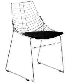 Silla apilable estructura en acero lacado o cromado.