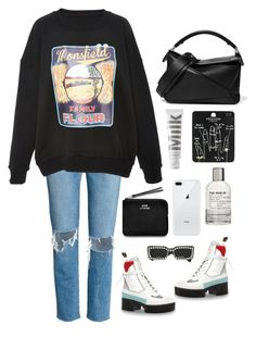 """""""man"""" by millicent4 ❤ liked on Polyvore featuring Monse, Topshop, Loewe, MILK MAKEUP, Le Labo, Gucci and Acne Studios"""