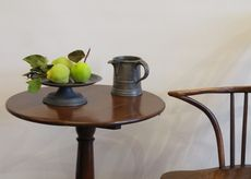Allpress Antiques Furniture Melbourne Victoria Australia: 18th Century English pewter tazza on stepped base - AA1451