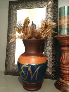 Family Letter Vase by SarahKKreations on Etsy