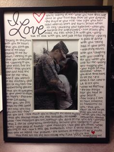 Perfect DIY anniversary gift! Little and big things you love about him/her.
