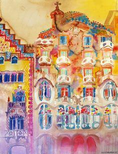 Casa Batllo by *takmaj on deviantART   - Maja Wronska