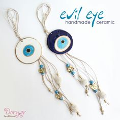 Handmade invitations & bobonieres for Greek Orthodox weddings & baptisms in Glyfada- Evil eye amulet (matt) - Gift for a new business, a baby birth, or a baptism Homemade Christmas Decorations, Christmas Crafts, Greek Evil Eye, Handmade Invitations, Candle Set, Unity Candle, Kids Party Themes, Diy Crafts For Gifts, Lucky Charm