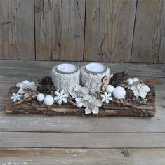 15 Fabulous Christmas Candle Decoration Ideas To Delight Your Holiday- Rustic Natural Winter Decoration; Christmas Candle Decorations, Christmas Candles, Winter Christmas, Christmas Wreaths, Christmas Ornaments, Table Decorations, Art Floral Noel, Deco Table Noel, Christmas Inspiration