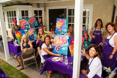 09/12/15 Kelly's Birthday Party HB  Had so much fun painting with these lovely ladies for Kelly's birthday! Great food, drinks, laughter, and fun was had! Can't wait to paint again! Don't forget to tag each other!   #HappyHourPaint   #BirthDay   #wine   #paint   #food   #music  #PaintsUncorked