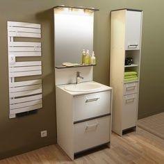 Meuble de salle de bains Nerea, blanc