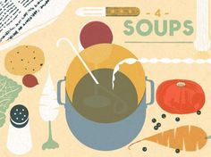 Illustration by French illustrator Blexbolex, fof Ginette Mathio's 'I Know How to Cook'