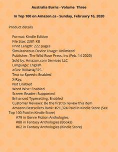 Australia Burns Volume Three (Show Australia Some Love Book Love Book, Burns, The 100, Australia, Things To Sell