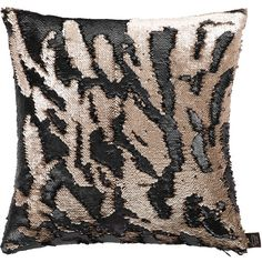 Aviva Stanoff Two Tone Mermaid Sequin Cushion - Matt Taupe/Black -... ($100) ❤ liked on Polyvore featuring home, home decor, throw pillows, black, black accent pillows, black toss pillows, mermaid home decor, sequin throw pillow and black sequin throw pillows
