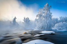 Kuusaankoski morning - (-30°C) Cold morning at Kuusaankoski, Finland. Photography by  Aleksi Hämäläinen