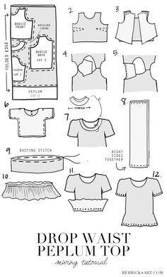 Merrick's Art // Style + Sewing for the Everyday Girl : DIY FRIDAY: GINGHAM DROP WAIST PEPLUM TOP