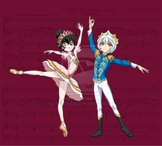 Nutcracker- Pas De Deux by SapphireGamgee on deviantART Princess Tutu Anime, Princess Zelda, Dark Fantasy Art, Boris Vallejo, Royal Ballet, Princesa Tutu, Body Painting, Character Poses, Yandere Simulator
