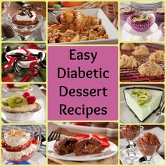 Our 10 Easy Diabetic Dessert Recipes | EverydayDiabeticRecipes.com