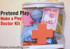 Make your own toddler doctor kit. Totaly think that I will make this for little princess' birthday!