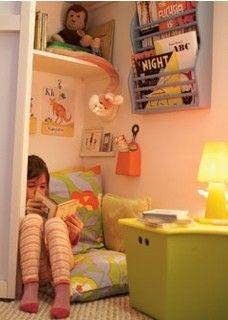 Reading nook. #nursery #nook