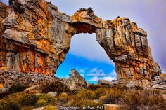 Wolfberg Arch in Cederberg Wilderness in the Northern Cape Area of South Africa, a UNESCO World Heritage Site - photo by Tom Till; The arch is 60 feet wide and 50 feet high. - info from naturalarches Wonders Of The World, In This World, Provinces Of South Africa, Road Trip Adventure, Nature Reserve, Adventure Is Out There, World Heritage Sites, Bouldering, Wilderness