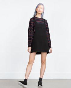 ZARA - WOMAN - ESSENTIALS DENIM PINAFORE DRESS