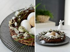 DIY gorgeous tied willow wreath. No written tutorial but lots of photos on this German blog.