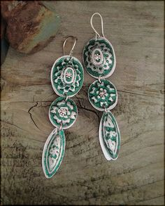 1398 earrings by Experimetal on Etsy