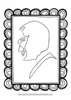 ATATÜRK BOYAMA SAYFALARI/10 KASIM-23 NİSAN-CUMHURİYET BAYRAMI Mandala, Frame, Home Decor, Picture Frame, Decoration Home, Room Decor, Frames, Home Interior Design, Mandalas