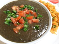 This black bean soup looks delish! Maybe served with a fabulous grilled cheese sandwich?!?