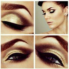 Eyeshadow #gold #Eyeshadow #eye #makeup #smoky #dramatic #eyes