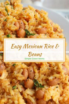 Easy Mexican Rice and Beans Recipe #healthyrecipes #recipeoftheday #ricedish #beans #mexicanfood #cleaneatingrecipes #dinnerideas #healthydinnerrecipes #healthymeals #healthylifestyle #healthydiet #healthyeating #easydinner #comfortfood #dinner #declicious via @simplegreenmoms