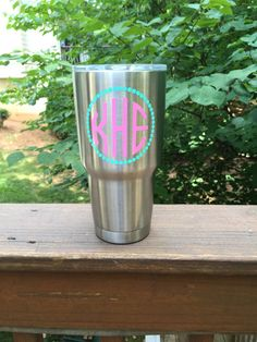 Monogrammed YETI Colster By AllisonsVinylDesigns On Etsy